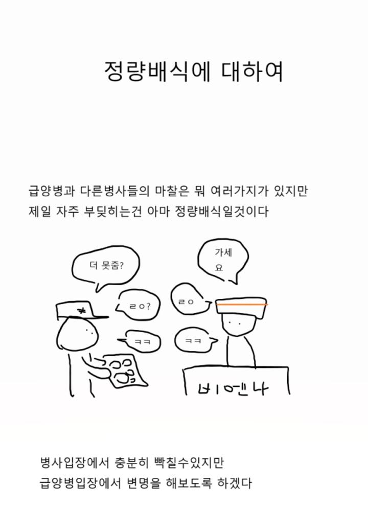 급양병 만화 2 - 정량배식에 대하여 No.0